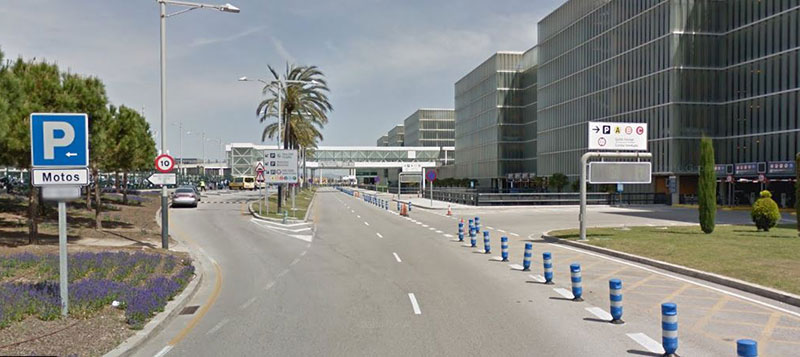 Parking area T1 Barcelona airport