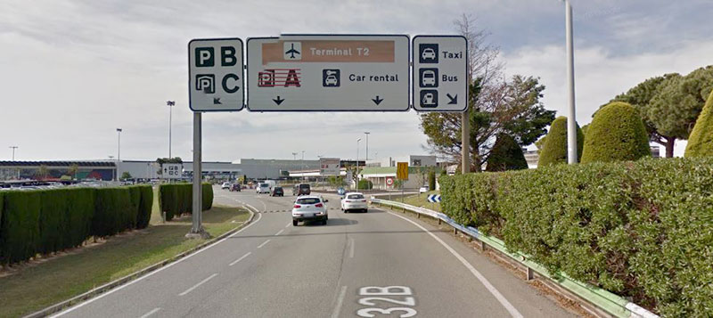 Parking areas T2 Barcelona airport